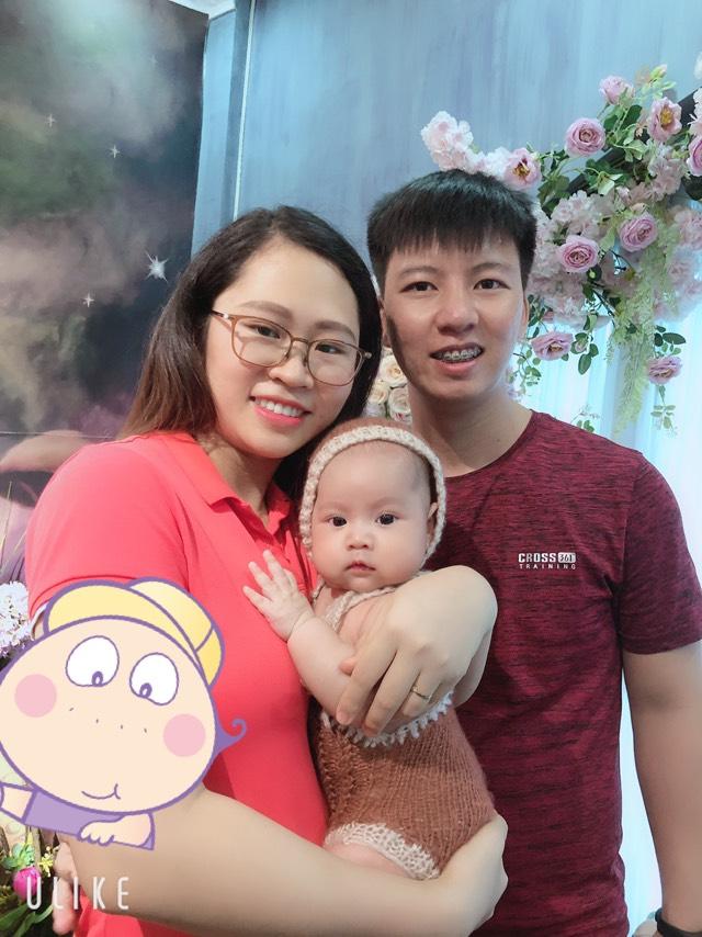 Lê Lương Toản bên gia đình hạnh phúc