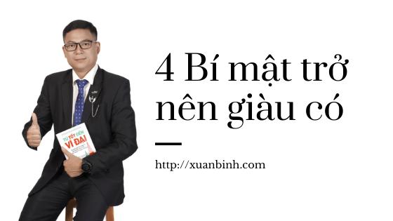 4 Bí mật trở nên giàu có